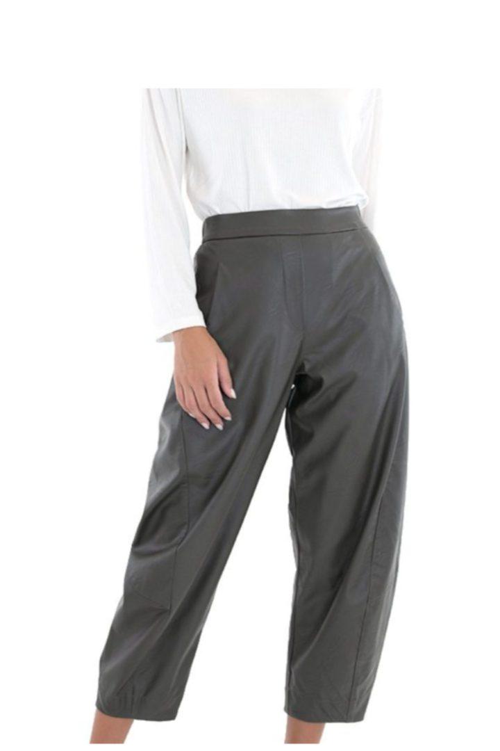 Moutaki eco-leather παντελόνι