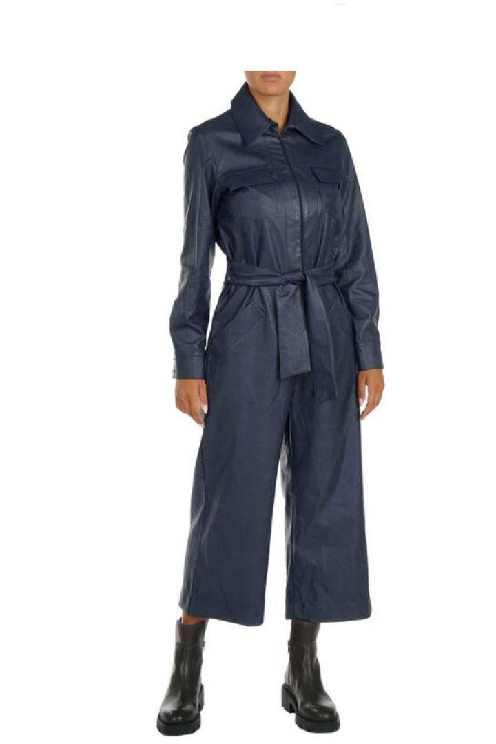 Moutaki eco-leather jumpsuit