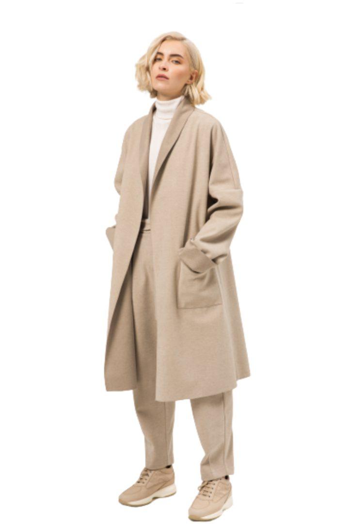 moutaki μπέζ παλτό