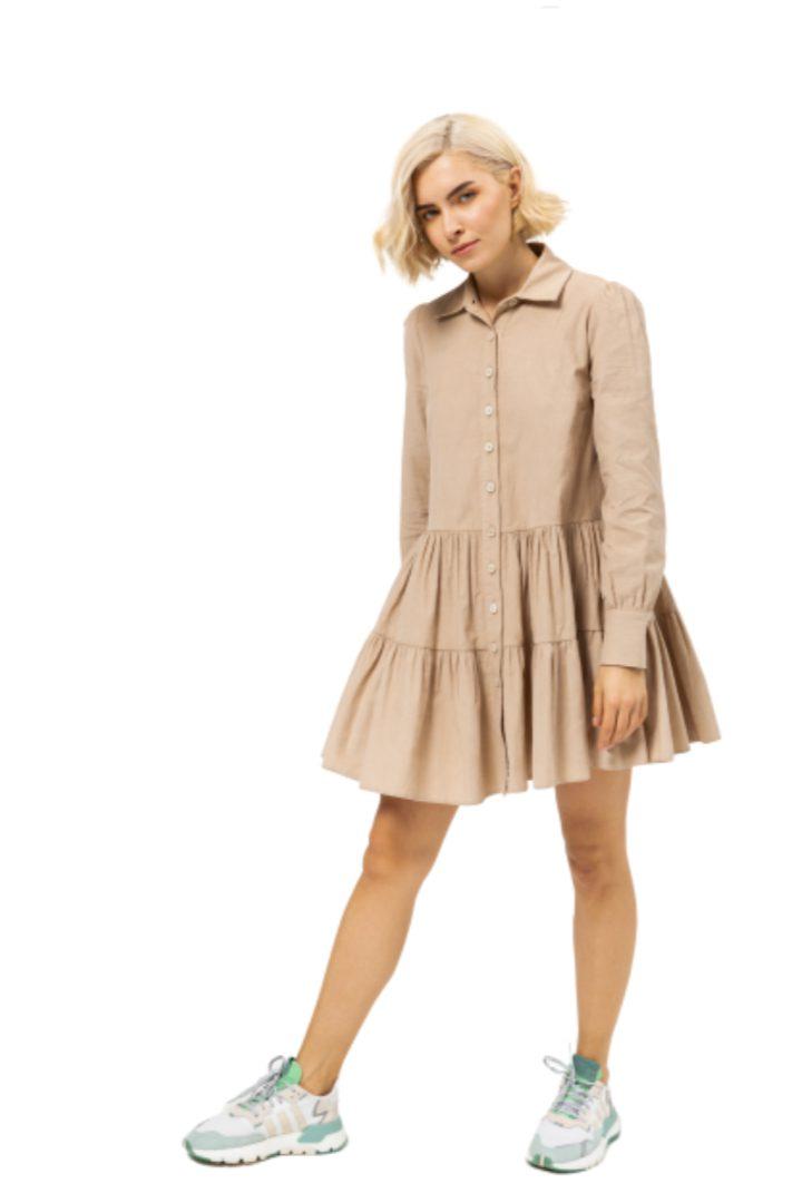 Moutaki μίνι φόρεμα κοτλέ