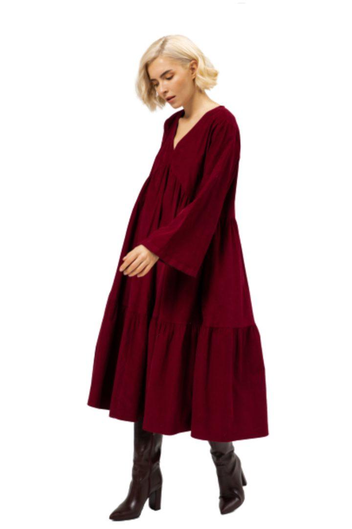 Moutaki μίντι φόρεμα κοτλέ