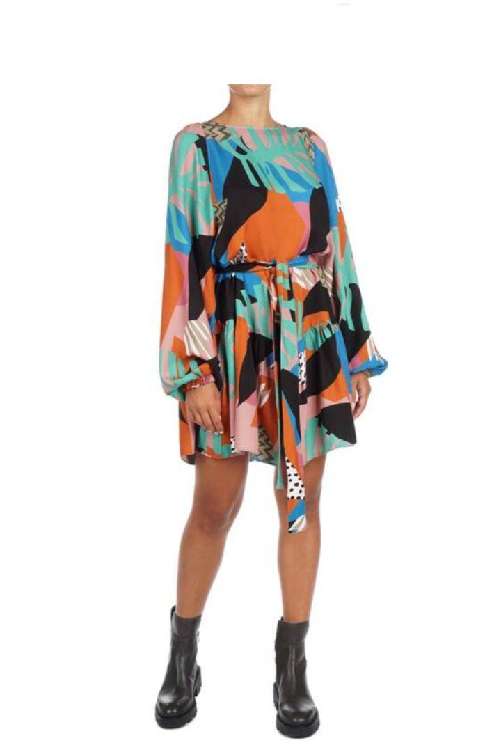 Moutaki κοντό φόρεμα μακρυμάνικο