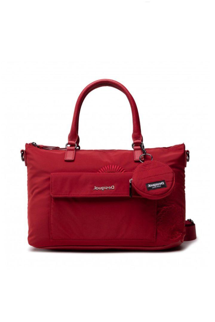 desigual τσάντα χειρός-ώμου κόκκινη