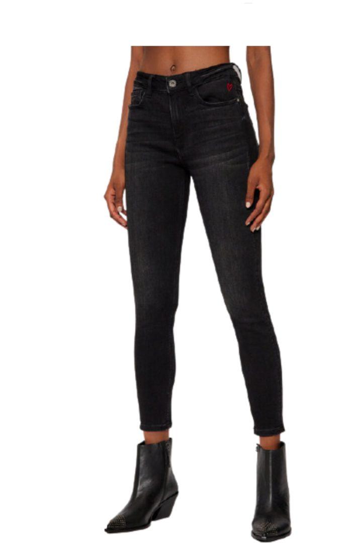 Desigual τζήν παντελόνι, στενή γραμμή σε μαύρο χρώμα