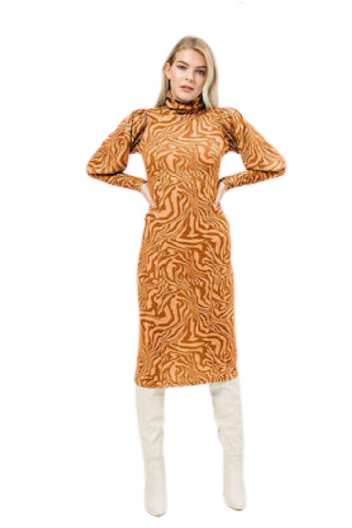 Moutaki μίντι πλεκτό φόρεμα
